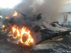 an-apc-that-burned-during-fighting-for-shakhtyorsk